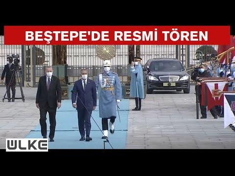 Cumhurbaşkanı Erdoğan, Irak Başbakanı Kazımi'yi resmi törenle karşıladı