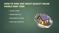 Find Solar Companies in New York For Installing Solar System