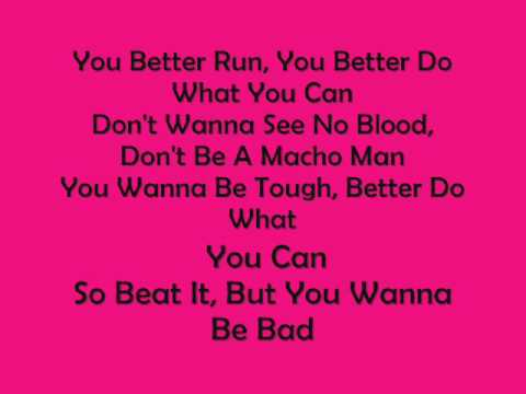 Michael Jackson-Beat It with lyrics