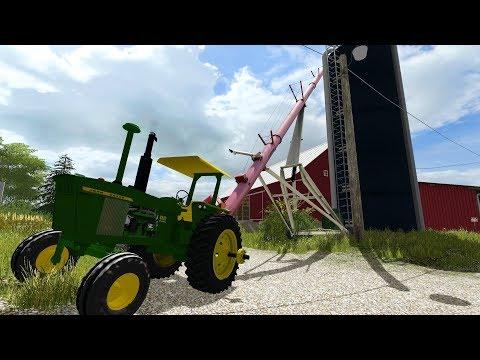 FARMING SIMULATOR 2017 | LOADING CORN INTO THE SILO WITH THE 4320 | + CORN HARVEST | EP #4
