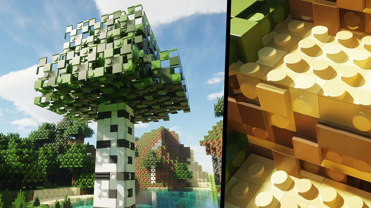 Minecraft, but everything is LEGO - Brixel RP - Ray Tracing - 4K