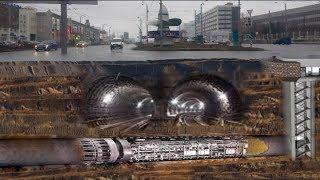 Нашли секретный авто-туннель под метро Московский проспект
