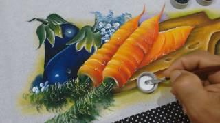Roberto Ferreira – Pintura em Tecido Cenouras e Acabamentos