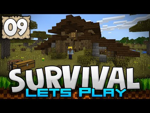 BUILDING A HORSE STABLE!!! - Survival Let's Play Ep. 09 - Minecraft 1.2 (PE W10 XB1)