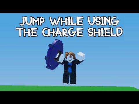 Download Jump while using the Charge Shield (Roblox Bedwars)