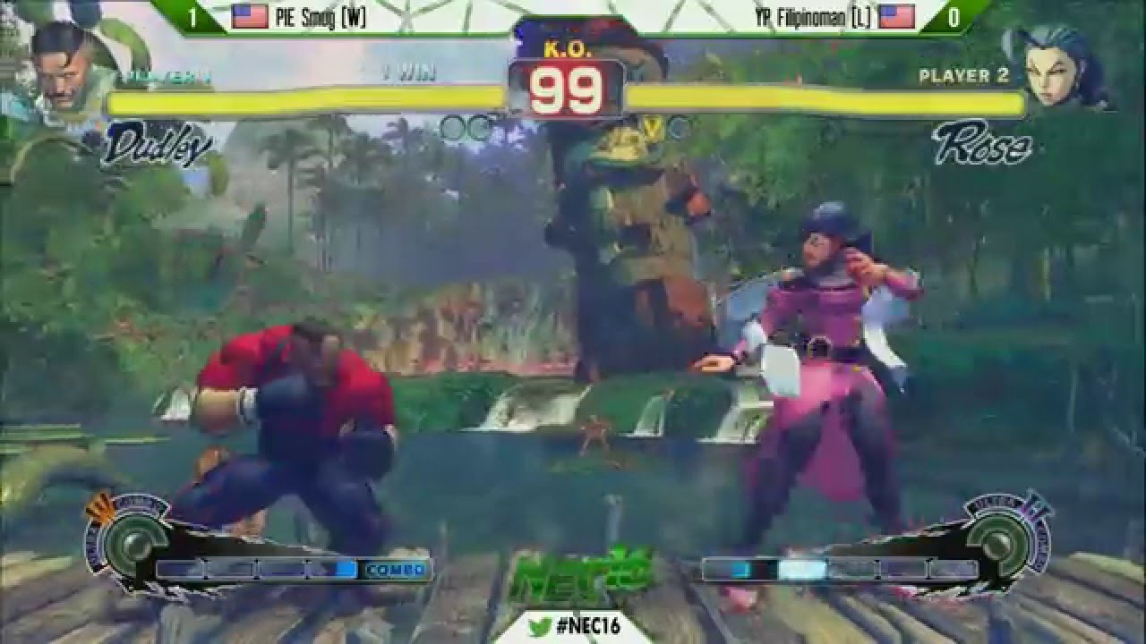 NEC16 - USF4 - Grand Final - PIE Smug (Dudley) vs YP Filipinoman (Rose; Elena)