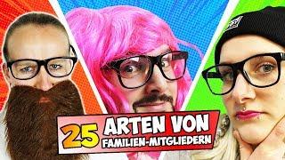 25 ARTEN VON FAMILIEN-MITGLIEDERN Bruder, Schwester, Vater, Mutter - Verschiedene 5 Arten Videos