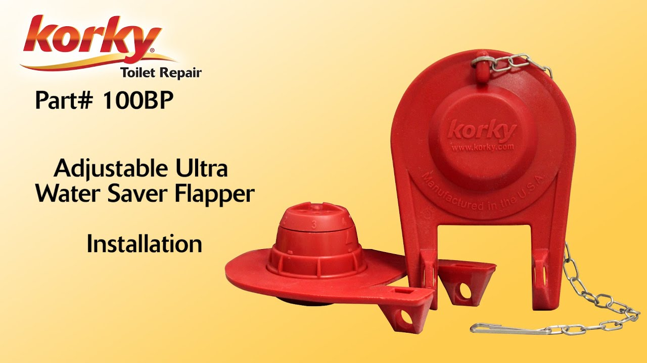 water saver toilet flapper.  Adjustable Ultra Flapper Install By Korky YouTube