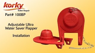 How to install a Adjustable Ultra Toilet Flapper by Korky