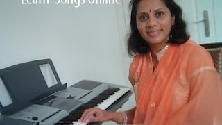 Learn Kannada Songs on Keyboard No 7-Film song with Notation