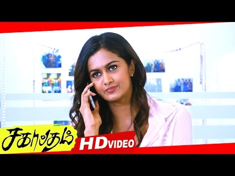 Sagaptham Tamil Movie Scenes HD | Neha Hinge And Shubra Aiyappa Fight For Shanmugapandian
