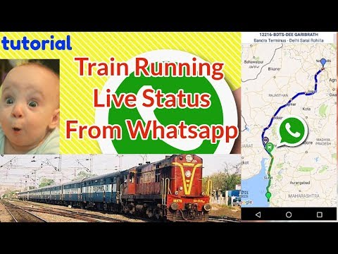 check Train running live status form whatsapp | Live Train Status on Google Map | NTES railway