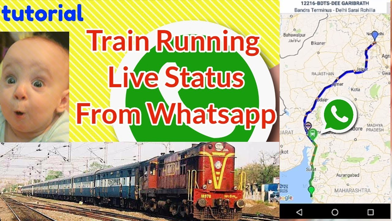 check Train running live status form whatsapp | Live Train Status on Google  Map | NTES railway