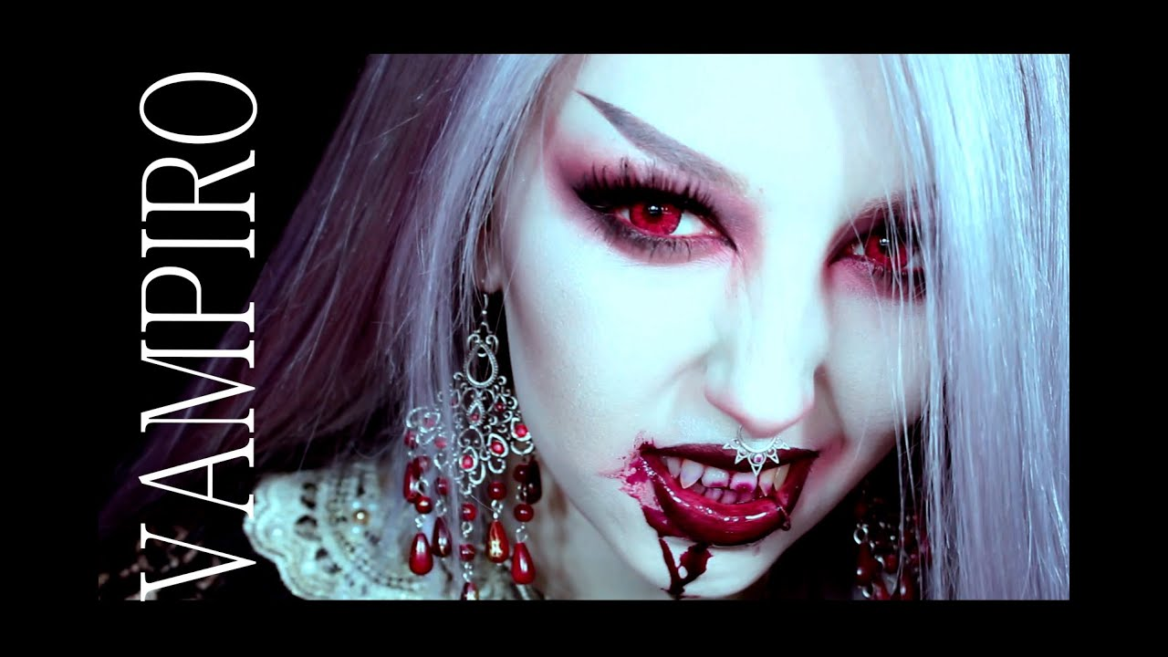 HALLOWEEN MAKEUP : VAMPIRO [ parte1 ] Vampire makeup - YouTube