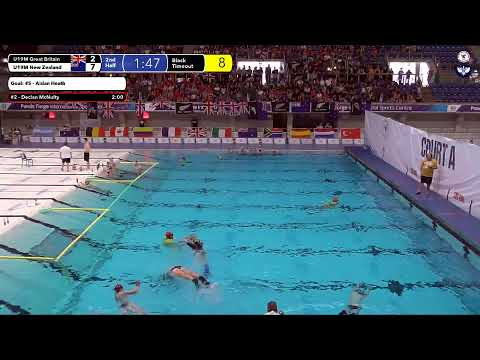 Game 205  (NZL vs GBR U19M) ENGLISH- 5th CMAS Underwater Hockey Age Group Worlds - Sheffield, UK
