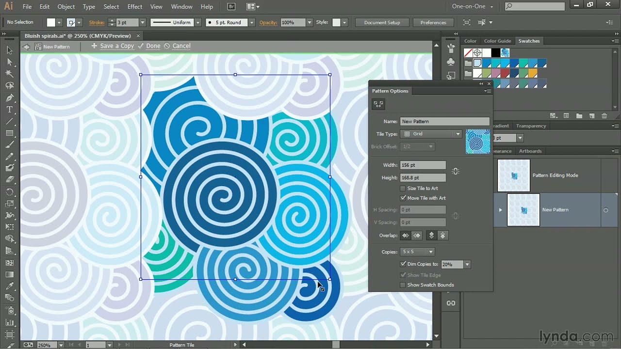 Illustrator CC tutorial: Using the Pattern Generator | lynda com