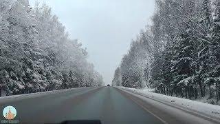 RUSYADA,KARDA ARABA SÜRME KEYFİ. Russian Nature and Roadway
