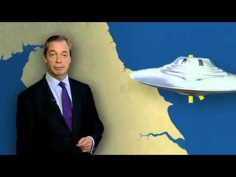 Nigel Farage gives UKIP weather forecast on BBC 26 Jan14