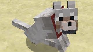Dog Playing Fetch in Minecraft