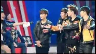[Fancam] 130126 Hubei TV Recording - MC Hug SJ-M ♥♥♥