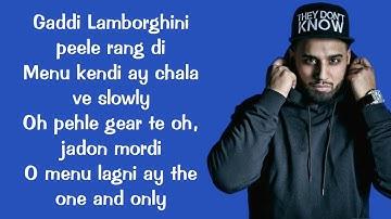 Satisfya (lyrics) Imran khan | Gaddi Lamborghini | lyrics video |
