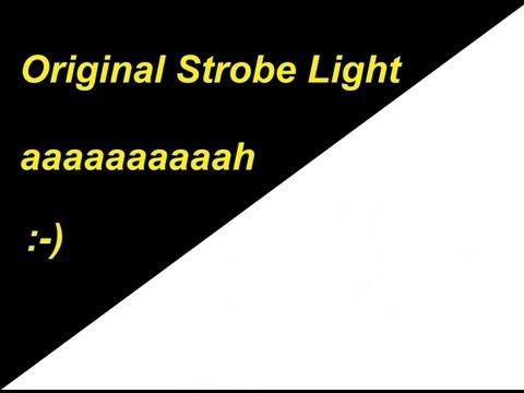 STROBE LIGHT EFFECT ! SEIZURE WARNING !!! The Original Black And White Online Strobe