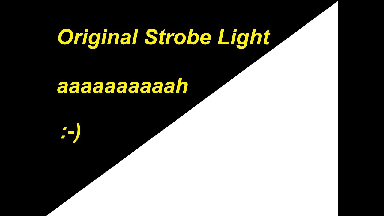 STROBE LIGHT EFFECT ! SEIZURE WARNING !!! The Original Black And White Online  Strobe Nice Ideas