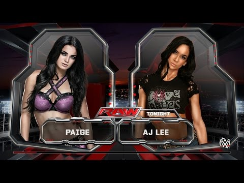 WWE 2K15 Paige intro, signature, finishing moves (highest quality)