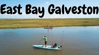 HUNGRY Fish in Galveston East Bay (Solo Skiff Fishing)