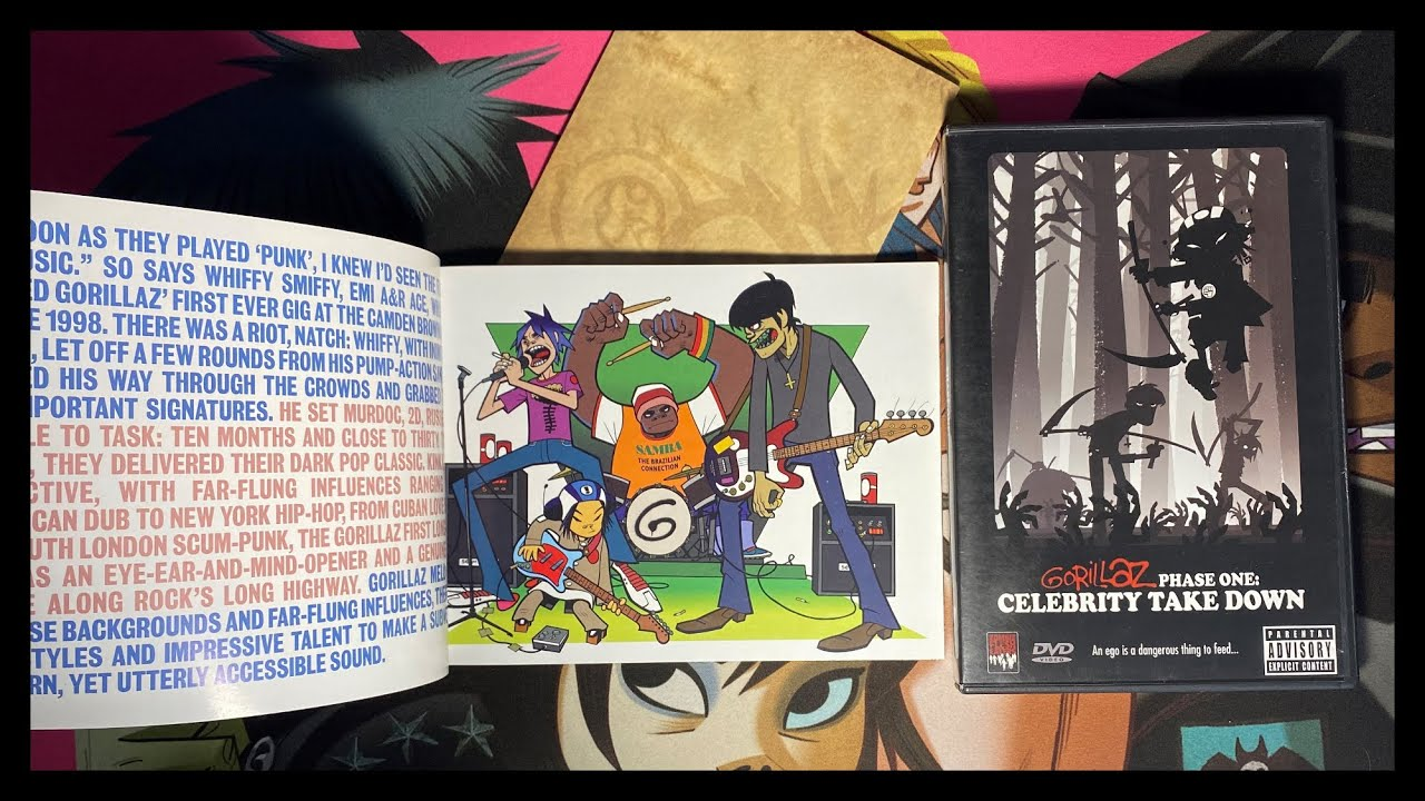 El primer libro de Gorillaz (Unboxing Celebrity Take Down Edición especial)