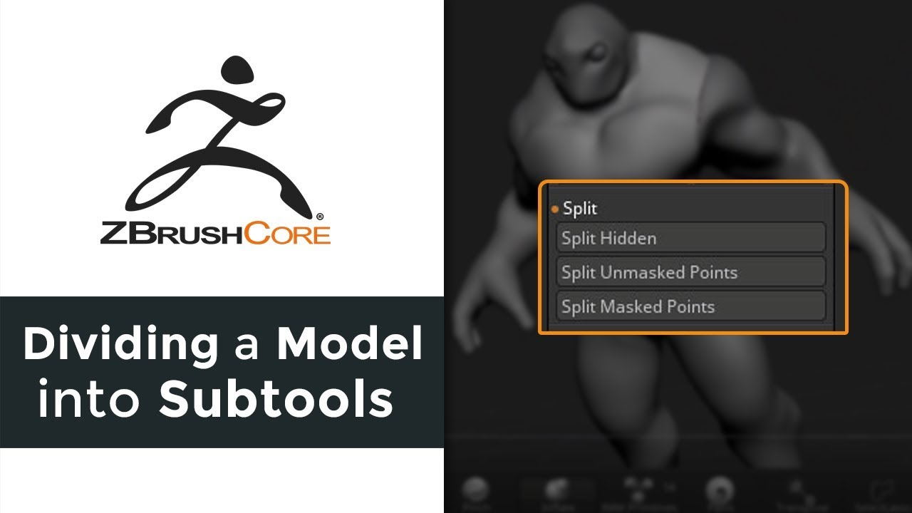 ZBrushCore: Dividing your Model into Subtools #AskZbrush
