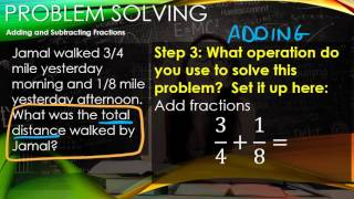 Math 6 Problem Solving Strategies   Adding and Subtracting Fractions
