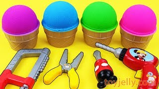 Kinetic Sand VS Mad Matter Sand Ice Cream Kinder Surprise Eggs Learn Colors with Fun Baby Toys