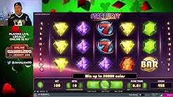 Starburst w/ Big BONUS slot machine LIVE [Online Gambling with Jersey Joe # 23]