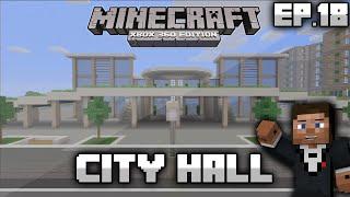 minecraft modern hall building