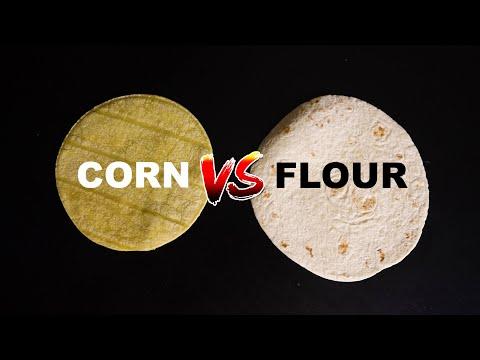Corn vs flour tortillas