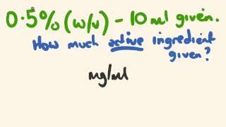Nursing medication math calculation - drug percentages made easy!