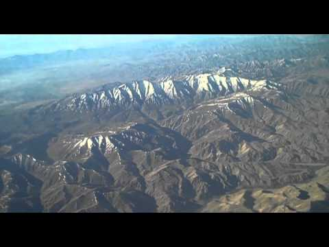 Afghanistan from above - Flight Dubai-Kabul