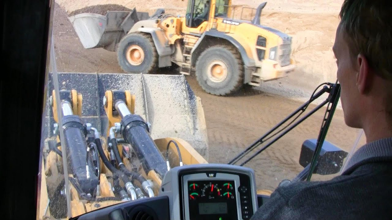 New Cat 980K Wheelloader Building A New Road: Cab View - YouTube