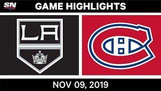 NHL Highlights   Kings vs. Canadiens – Nov. 9, 2019