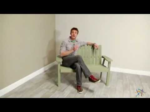 Shoreline Adirondack Bench - Driftwood - Product Review Video