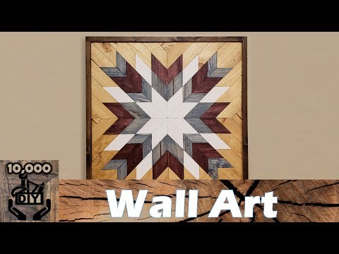Geometric Wood Wall Art | Wood Decor | Wood Quilt | Wood Mosaic
