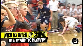 Nico Mannion Having Fun vs WILD Opposing Crowd!! And Then Takes Pictures With Them!!