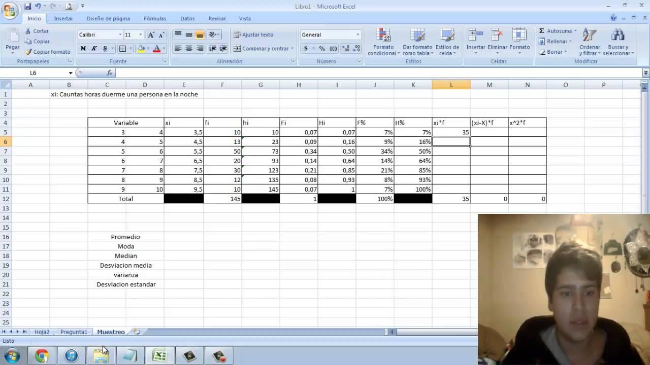 Excel Creacion De Tablas De Datos Agrupados Estadistica