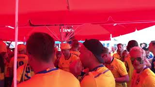 Swedish fans in Sochi Russia 2018 before Germany-Sweden World Cup match