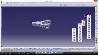 Knuckle Joint Machine Drawing on Catia V5