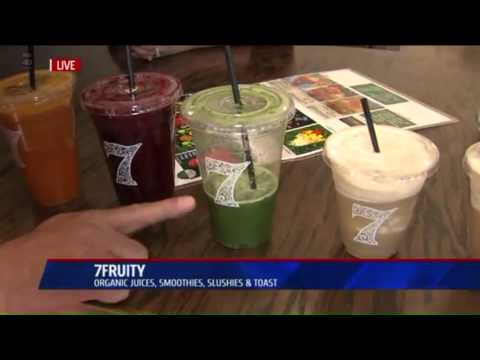 Fresh organic drinks at 7fruity sacramento/ elk grove california pt 1 Fox 40 news