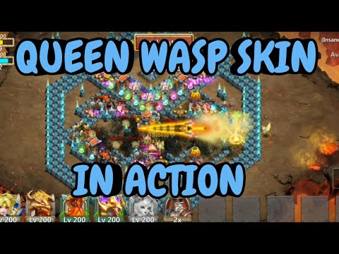 Queen Wasp Skin In Action L Castle Clash