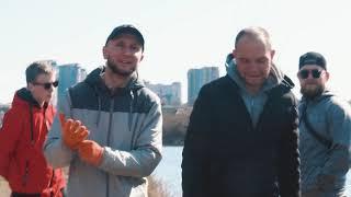 Высадка деревьев на Алексеевском водохранилище Харьков 10 04 2021 Организатор Fishing Father