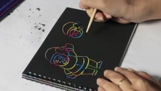 Dạy bé tập vẽ ông già noel trên sổ ma thuật - Cô Trang??